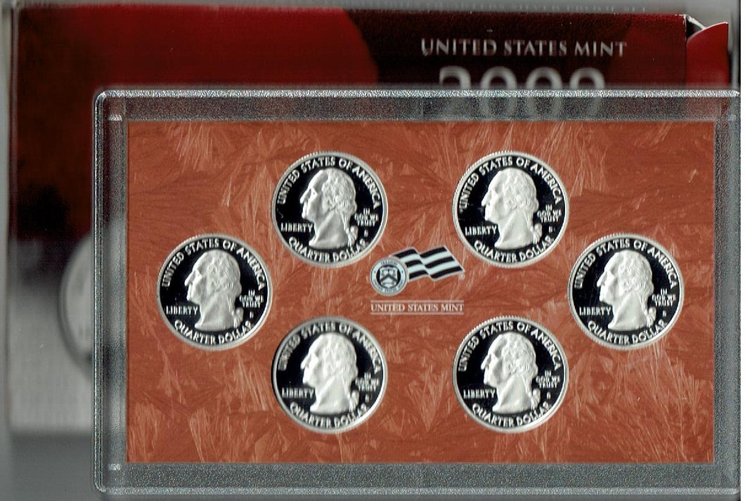 US Silver Proof 2009 Quarter Set