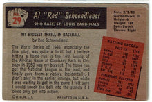 "Load image into Gallery viewer, Baseball Al ""Red"" Schoendienst  29  Bowman 1955"