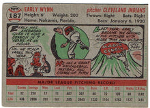 Load image into Gallery viewer, Baseball Early Wynn 1956 Topps 187