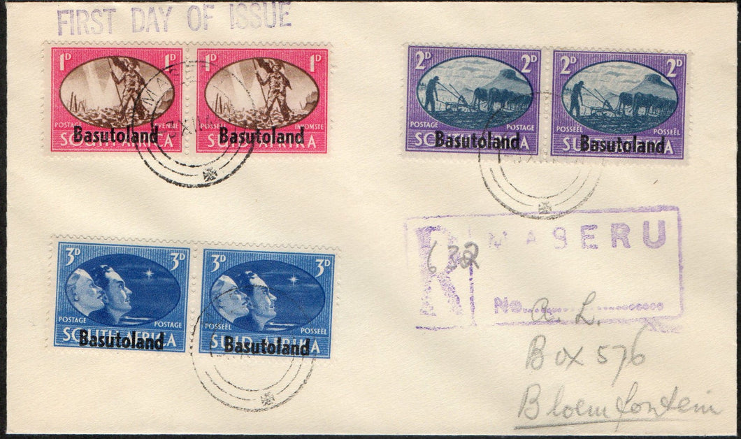 British Guiana Scott #227-229 FDC Coronation 1937