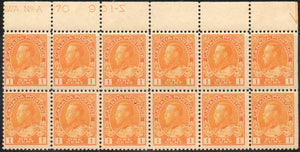 Canada 105, Die I, Type A43, Block of 12