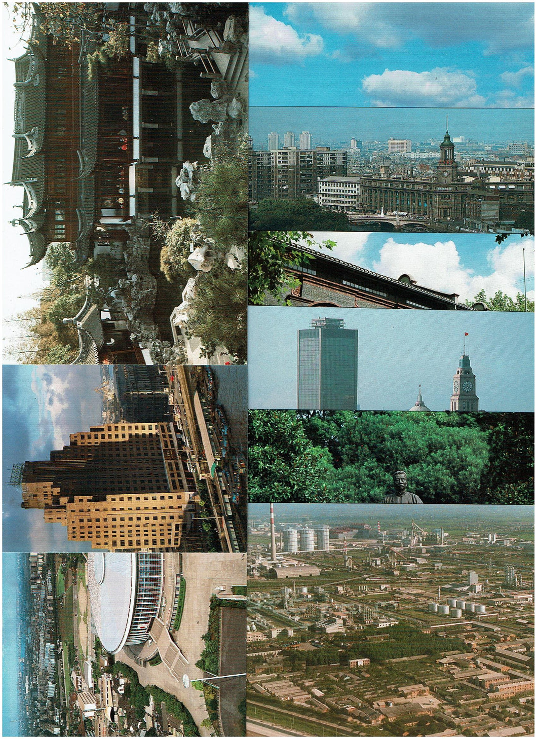 China 1987 Postal post cards series of 9