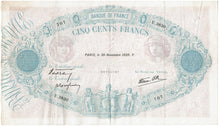 Load image into Gallery viewer, France Cinq Cents Francs Krause 88c 1939