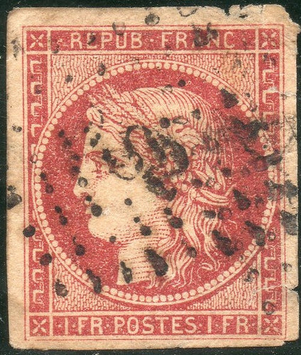 France Scott# 9b Used With Cert.