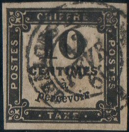 France 1869 Scott #J1 VF, Used