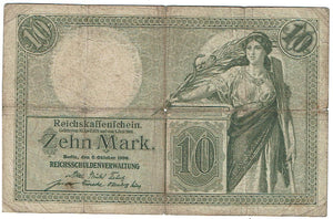 Germany 10 Mark #9b 1906