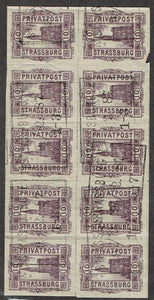 Germany Strassburg Private Post Michel #11b