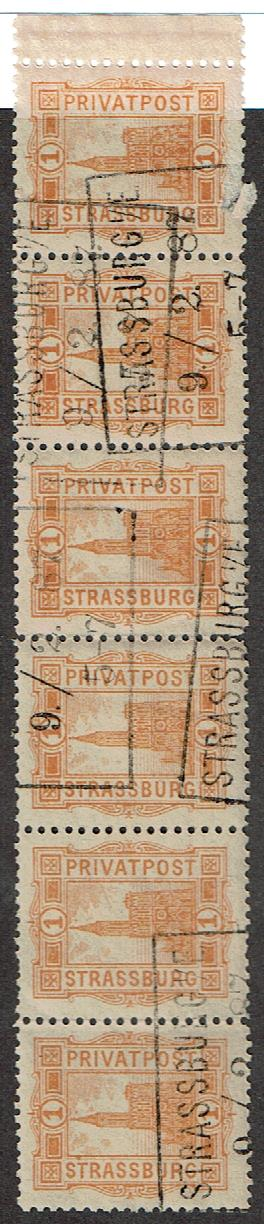 Germany Strassburg Private Post Michel #5 Cancelled