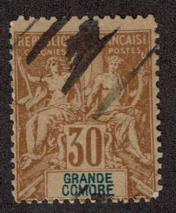 Grand Comoro Island #12 Cancelled Stamp