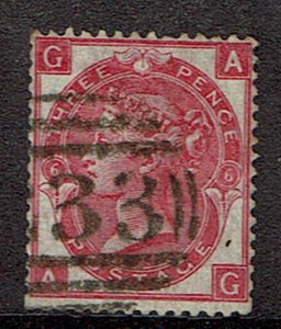 Great Britain #49 Plate 6 Cancelled