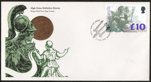 Great Britain 1993 FDC - £10 NEW High Value DEFINITIVE