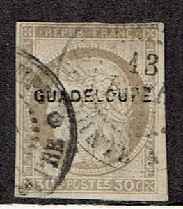 Guadeloupe #12 Cancelled