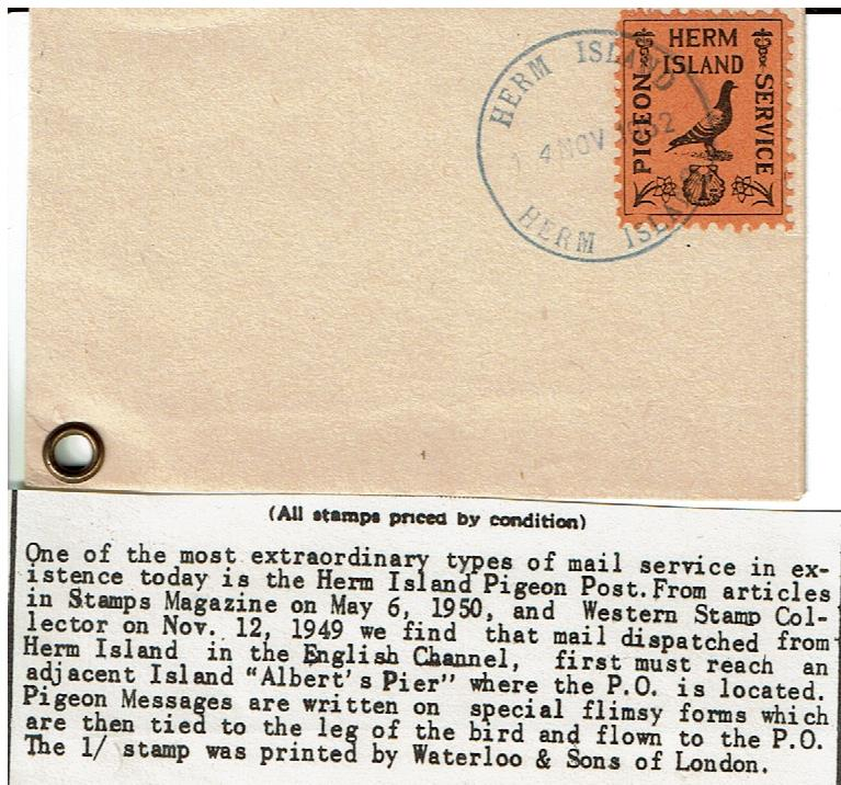 Herm Island #1949-01 Used on Cover