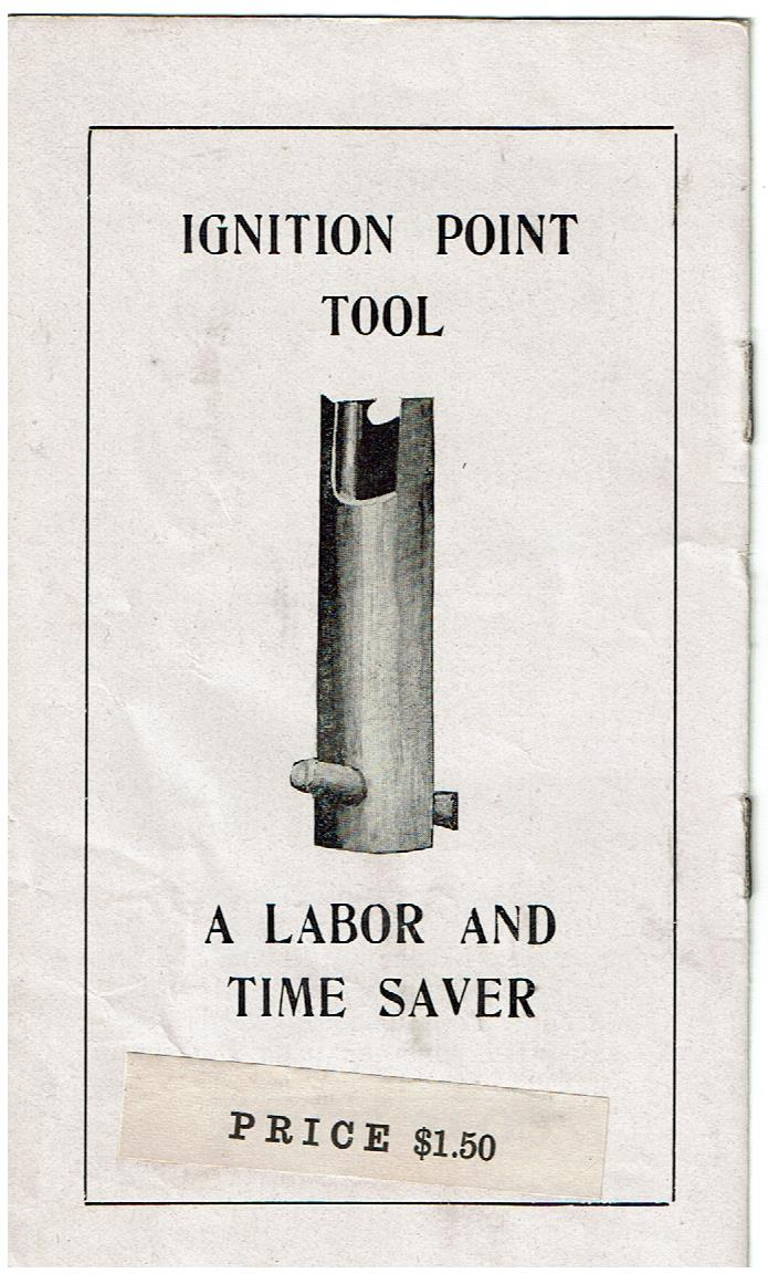 Mitchell ignition Point Tool Advertising Pamphlet