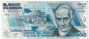 Mexico #92a  Currency 20,000 Pesos
