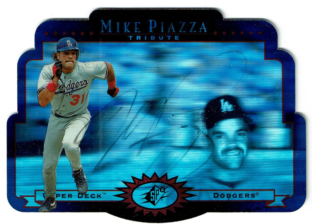 Baseball Mike Piazza Autographed 1 of 1 Upper Deck SPX 1996