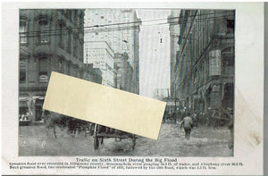 Real Photo Big Flood Pittsburg Pa. 1907