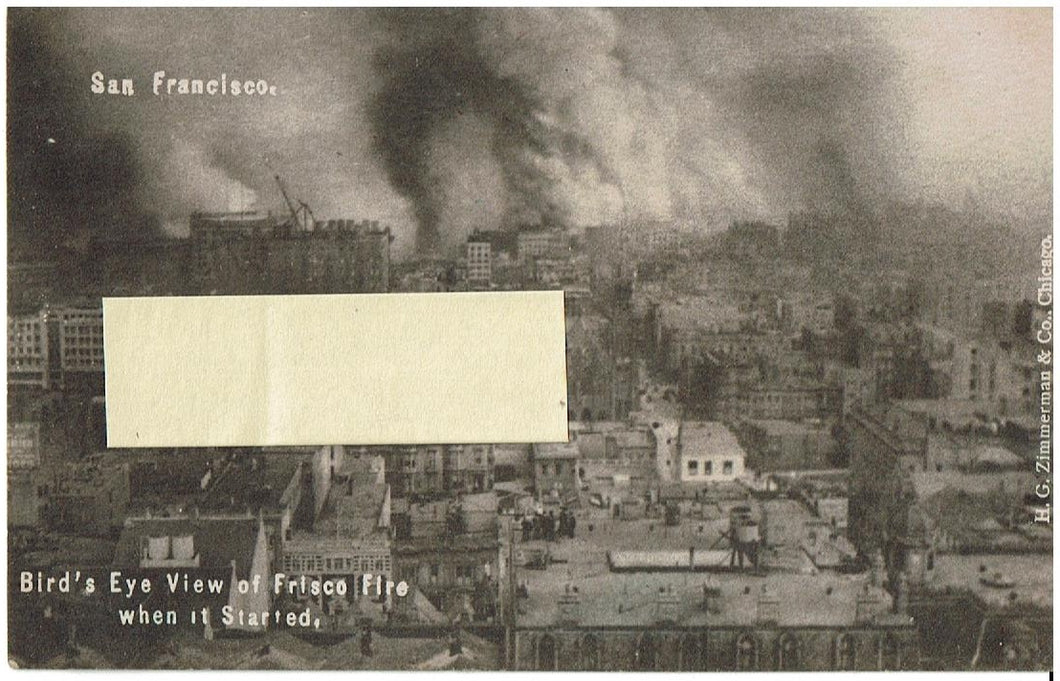Real Photo San Francisco Fire 1906