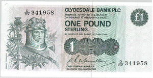 Scotland 1 Pound KR 211a 1982 About Uncirculated