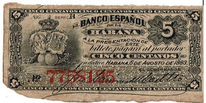 Spain 5 Centavos KR 29d 1883 About Uncirculated