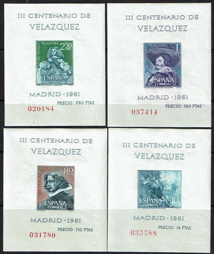 Spain #983a-986a Souvenir sheets MNH stamp set