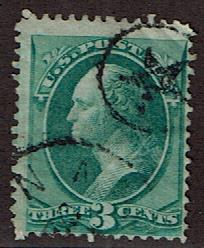 US Small Black Star in Ring Fancy cancel on 158