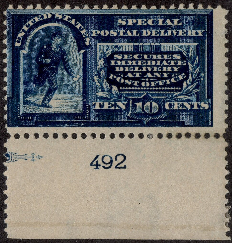 United States #E5, Plate Number Single