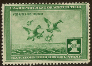 RW4 1937 Federal Duck Stamp MH