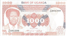 Load image into Gallery viewer, Uganda 1000 Shillings KR 23  Uncirculated