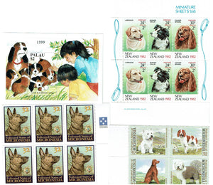 World wide lot of Dog Stamps