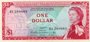 East Caribbean States 1965 13A One Dollar Uncirculated