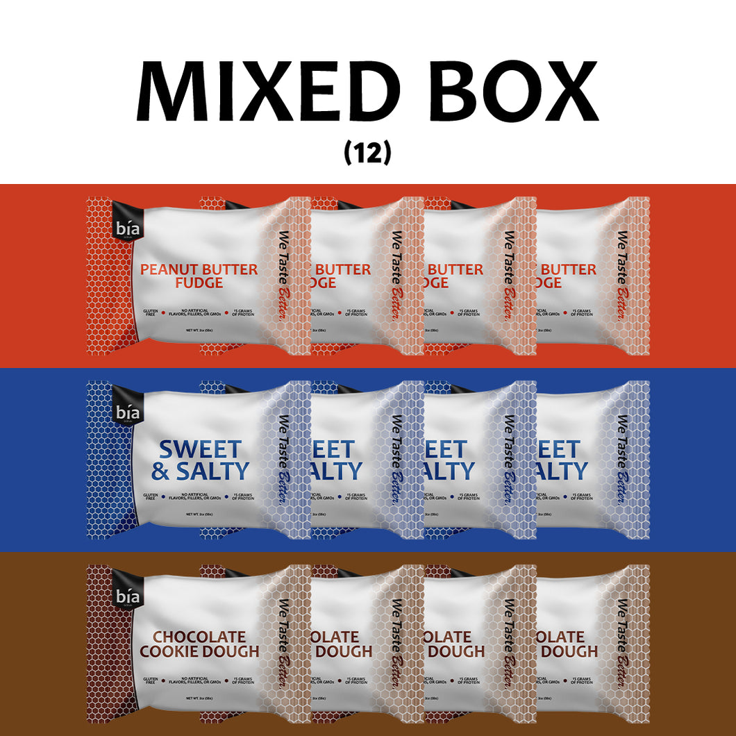 Mixed Box - 4 Bars Each Flavor (12ct.)