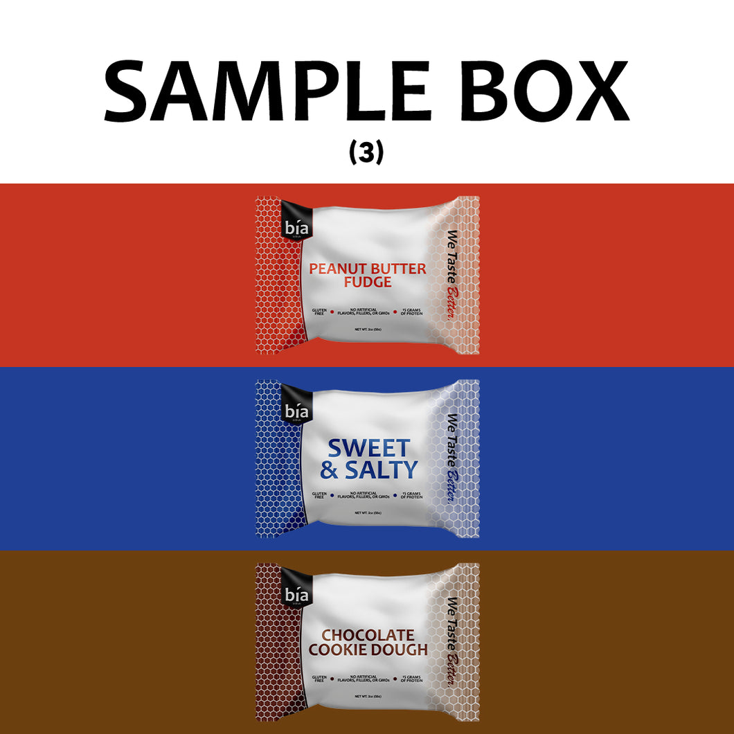 Sample Box - 1 Bar Each Flavor (3ct.)