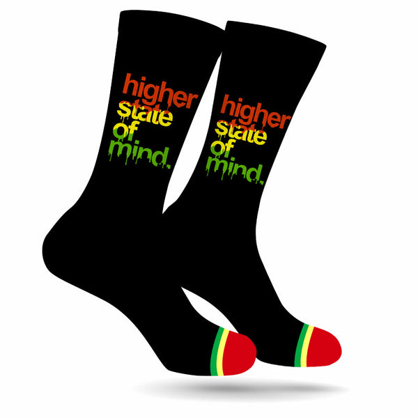 HSOM Rasta Black Crew Socks