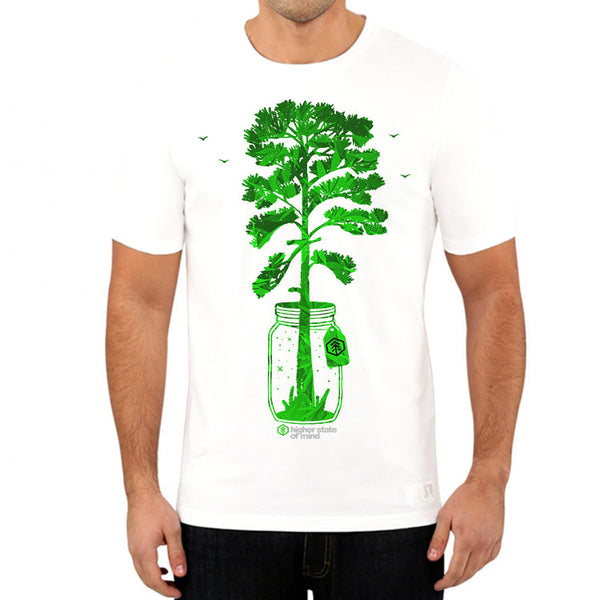 Tree In A Jar Mens Tee (White)