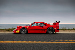 Ferrari F40 Canvas Car Posters