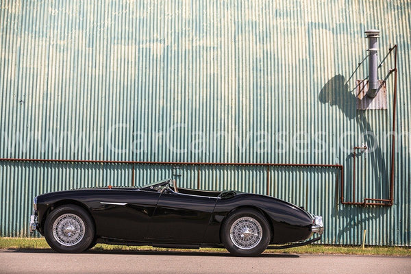 Austin Healey 100M BN2 Roadster Canvas Car Poster