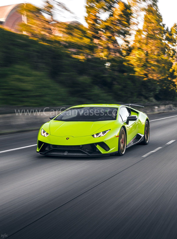 Lamborghini Huracan Performante canvas car posters