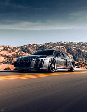Audi R8 Canvas Car Poster
