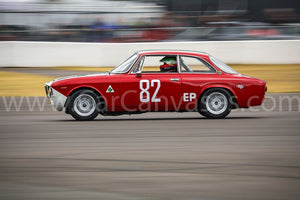 Alfa Romeo GTA on Track Canvas Car Poster