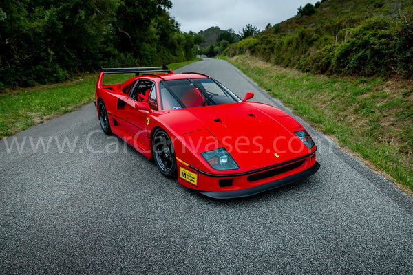 Ferrari F40 LM Canvas Car Posters
