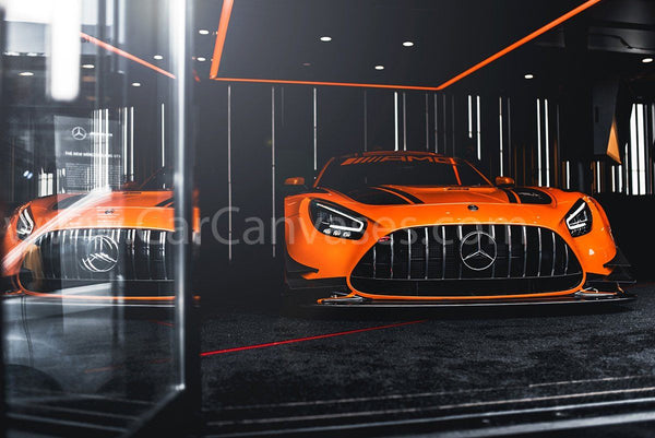 Mercedes Benz AMG GTR GT3 canvas car poster