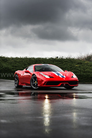 Ferrari 488 Pista canvas car posters