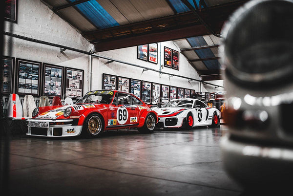 Porsche 934 and new 935 (2019) canvas car posters