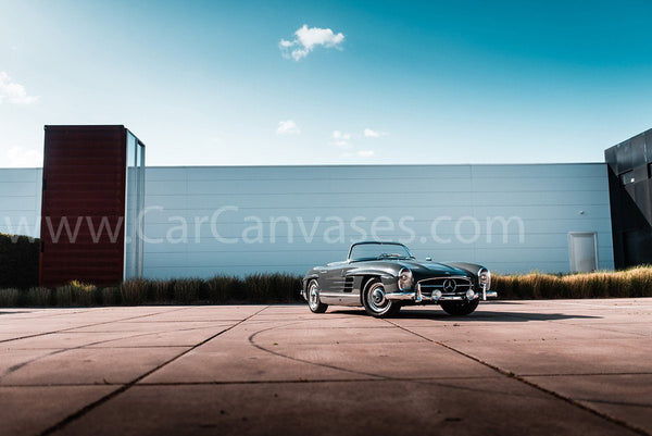 Mercedes Benz 300SL Roadster canvas car poster