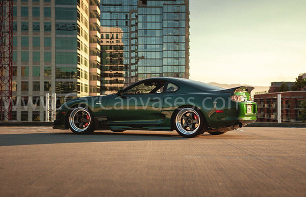 Modified Toyota Supra MK4 Canvas Car Posters