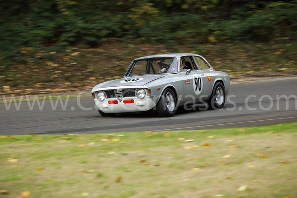 Alfa Romeo Giulia GTA on Track Canvas Car Poster