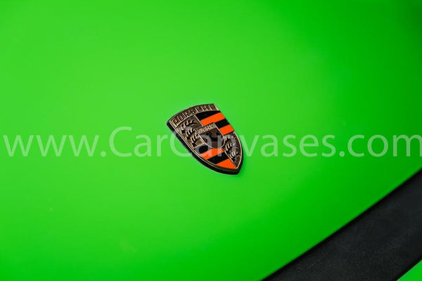 Porsche Vintage Orange Badge