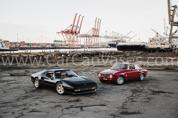 Ferrari 328 GTS and Alfa Romeo GTA 1600 Junior