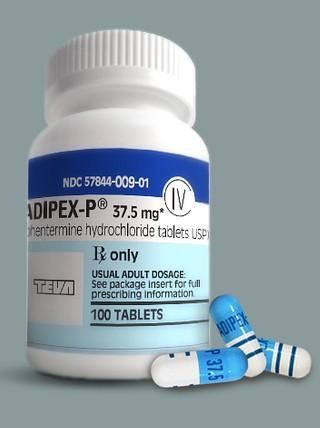 BUY ADIPEX 37.5 mg (130 Pills + 30 Pills)